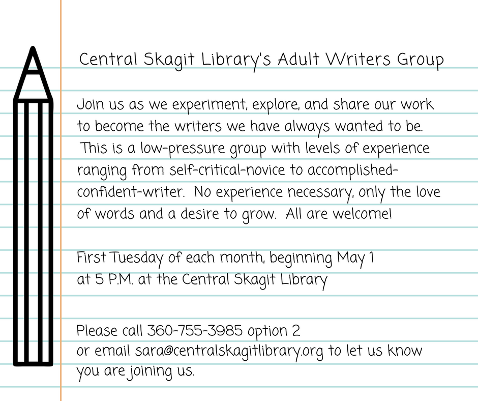 Email sara@centralskagitlibrary.org to add your name to the email list and  receive updates regarding the book club.